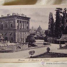 Postales: FLORENCIA JARDINES DE BOBOLI. POSTAL DÉCADA 1930. Lote 38240268