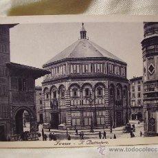Postales: FLORENCIA, EL BAPTISTERIO. POSTAL DÉCADA 1930. Lote 38240324