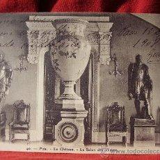 Postales: SALA DEL CASTILLO DE PAU. POSTAL CIRCULADA EN 1908.. Lote 38243260