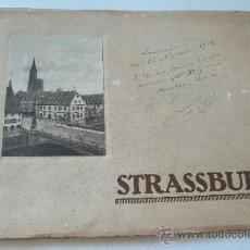 Postales: ANSICHTEN VON STRASSBURG NACH ORIGINAL-AUFNAHMEN IN KUPFERDRUCK-LIBRITO CON 18 VISTAS 19X26 CM.. Lote 38337113