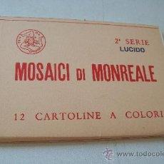 Postales: MOSAICI DI MONREALE, 12 CARTOLINE A COLORI-2ª. SERIE LUCIDO.- GASPARE BUCARO PALERMO. Lote 38341553