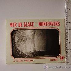 Postales: SOBRE CON 10 MINI POSTALES (9 X 6,5 CM) DEL MER DE GLACE-MONTENVERS CHAMONIX. CARTES POSTALES CAP. Lote 38411466