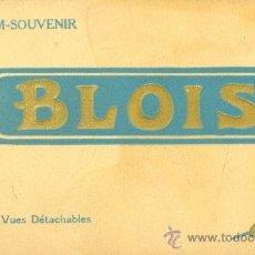 Postales: BLOIS (FRANCE). 24 VUES DÉTACHABLES. TONOS MARRONES, C. 1935-1940. POSTALES.. Lote 38452531