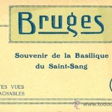 Postales: BRUGES (BELGIQUE). SOUVENIR DE LA BASILIQUE DU SAINT-SANG. 10 CARTES-POSTALES. C. 1925. Lote 38489508