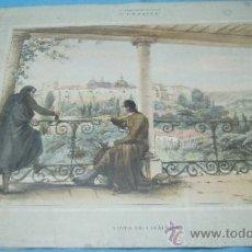 Postales: ANTIGUA LITOGRAFIA COLOR VISTA DE COIMBRA. Lote 38921427