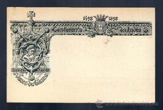 CENTENARIO DA INDIA 1498 1898 VASCO DE GAMA 20 REIS MATASELLO TONGRES HISTORIA POSTAL INDIAS PORTUGA (Postales - Postales Extranjero - Europa)