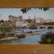 Postales: PAU. VISTA SOBRE EL GAVE, EL CASTILLO, EL PUENTE Y LA CIUDAD. FOTO REAL AL BROMURO.ESCRITA EN 1960. Lote 39039163
