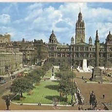 Postais: POSTAL A COLOR GEORGE SQUARE AND MUNICIPAL BUILDINGS GLASGOW. Lote 39238466