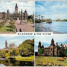 Postais: POSTAL A COLOR GLASGOW THE CLYDE ESCRITA 1972. Lote 39238484