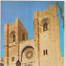 Postales: POSTAL A COLOR LISBOA PORTUGAL CATEDRAL. Lote 39238608