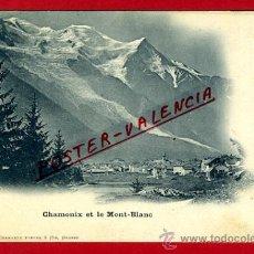 Postales: POSTAL GINEBRA, SUIZA, CHAMONIX ET LE MONT-BLANC, P79574. Lote 39296616