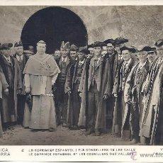 Postales: PS0345 REPÚBLICA D'ANDORRA 'LO COPRINCEP ESPANYOL I ELS CONSELLERS DE LES VALLS'. V. CLAVEROL.. Lote 39383542