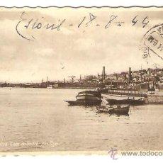 Postales: LISBOA - CAES DO SODRÉ: RIO TEJO - CIRCULA EN EL 44. Lote 39440843