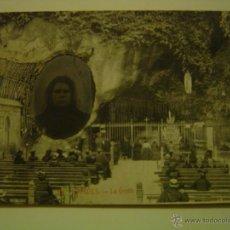 Postales: POSTAL DE LOURDES. LA GROTTE. POSTAL RECUERDO DE LOURDES DE 1912, CON FOTO. Lote 39648708
