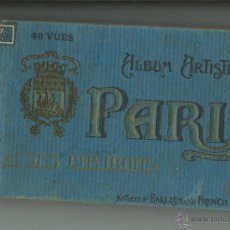 Postales: PARIS .- ALBUM ARTISTIQUE 48 POSTALES DE LA CIUDAD.-EDICIONES AP.-LEYENDA EN FRANCES E INGLES. Lote 39670311