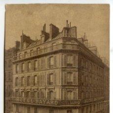 Postales: PARIS. HOTEL BAYARD 11 RUE RICHER. Lote 39779061