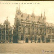 Postales: BRUGES (BELGIQUE). BASILIQUE DU SAINT-SANG. 10 POSTALES, TONOS MARRONES, C. 1925. Lote 40026377