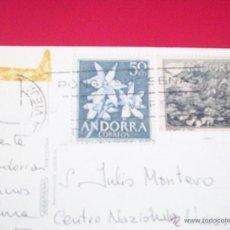 Postales: POSTAL ANDORRA CIRCULADA 2 SELLOS . Lote 40182895
