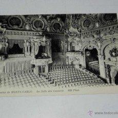 Postales: ANTIQUE CARTE POSTALE - FRANCE - MONACO - CASINO DE MONTE CARLO - LA SALLE DES CONCERTS - ND PHOT. -. Lote 38269882
