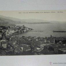 Postales: ANTIQUE CARTE POSTALE - FRANCE - MONACO - VUE SUR MONTE-CARLO ET LES MONTAGNES D,ITALIE - ND PHOT. -. Lote 38269885