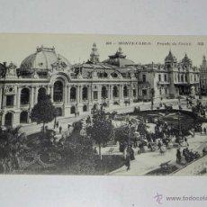 Postales: ANTIQUE CARTE POSTALE - FRANCE - MONACO - MONTE CARLO - FAÇADE DU CASINO - ND - 606 - NE CIRCULENT P. Lote 38269890