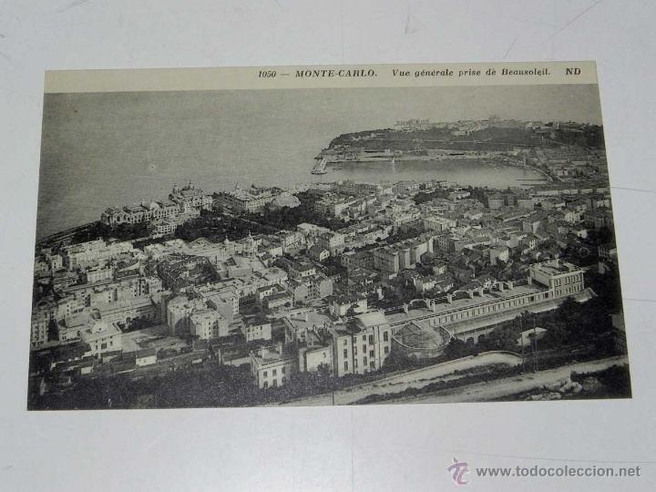 ANTIQUE CARTE POSTALE - FRANCE - MONACO - MONTE CARLO - VUE GENERALE PRISE DE BEAUSOLEIL - ND - 1050 (Postales - Postales Extranjero - Europa)