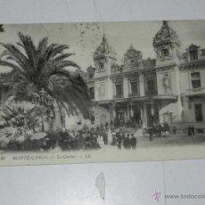 Postales: ANTIQUE CARTE POSTALE - FRANCE - MONACO - MONTE CARLO - LE CASINO - LL. - 35 - DIFFUSE. Lote 38269893