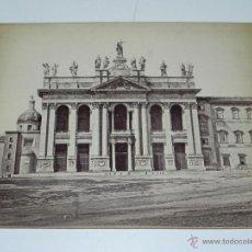 Postales: ANTIGUA FOTOGRAFIA ALBUMINA DE CHRISTO SALVATORI (ROME, ITALY) - MIDE 27,5 X 20,5 CMS. Lote 38278751