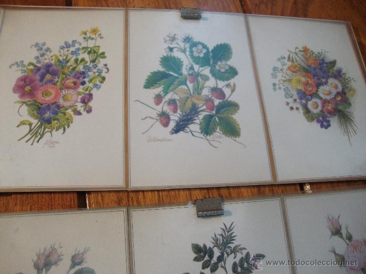 Postales: LOTE 12 POSTALES FLORES ANTIGUAS ENMARCADAS - Foto 4 - 40408970