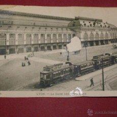 Postales: MUY BONITA AUNQUE ALGO DAÑADA - CARTE POSTALE LYON - LA GARE DES BROTETAUX - 1900 - SIN CIRCULAR -. Lote 40447183