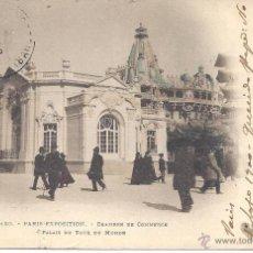 Postales: PS0546 PARÍS 'EXPOSITION - CHAMBRE DE COMMERCE'. CIRCULADA ENTRE PARÍS Y BARCELONA EN 1900. Lote 40476692
