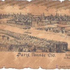 Postales: PS2959 LOTE DE 9 POSTALES CON DIBUJOS DE PARÍS DE 1750 - PRINCIPIOS S. XX. Lote 40477380