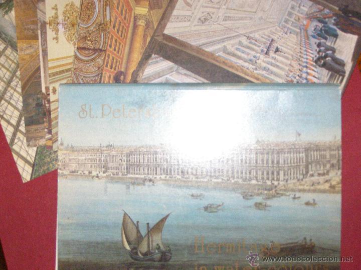 Postales: St. Petersburg - Hermitage in Water-Colours - Juego 12 Postales - Nuevo - - Foto 2 - 40478172