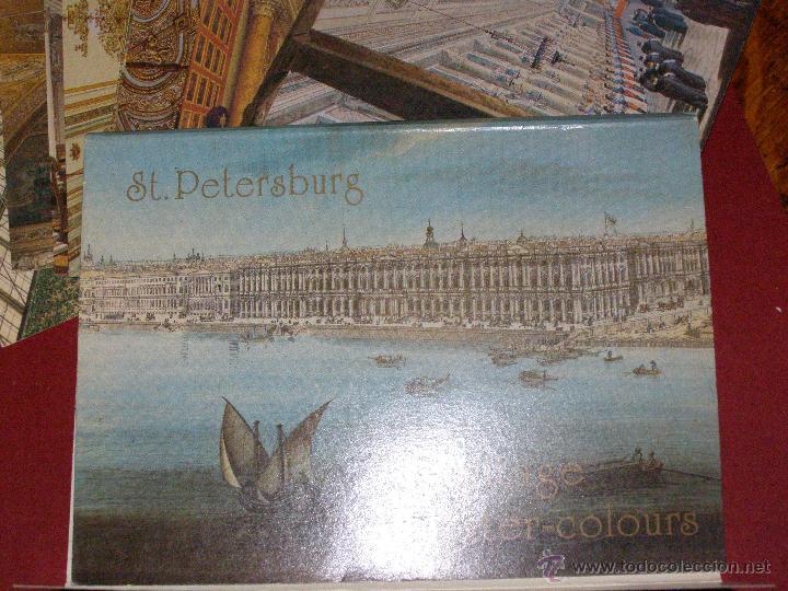 Postales: St. Petersburg - Hermitage in Water-Colours - Juego 12 Postales - Nuevo - - Foto 3 - 40478172