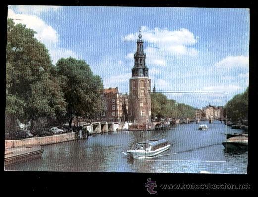AMSTERDAM: TORRE DE MONTELBAAN (CIRCULADA 16 MAYO 1964) (Postales - Postales Extranjero - Europa)