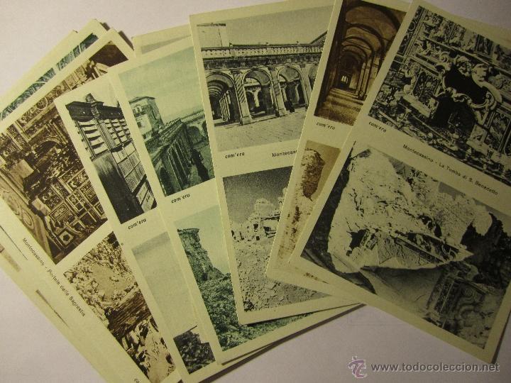 LOTE 10 POSTALES ABBAZIA DI MONTECASSINO ITALIA (Postales - Postales Extranjero - Europa)