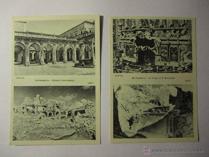 Postales: lote 10 postales abbazia di montecassino italia - Foto 2 - 40934874