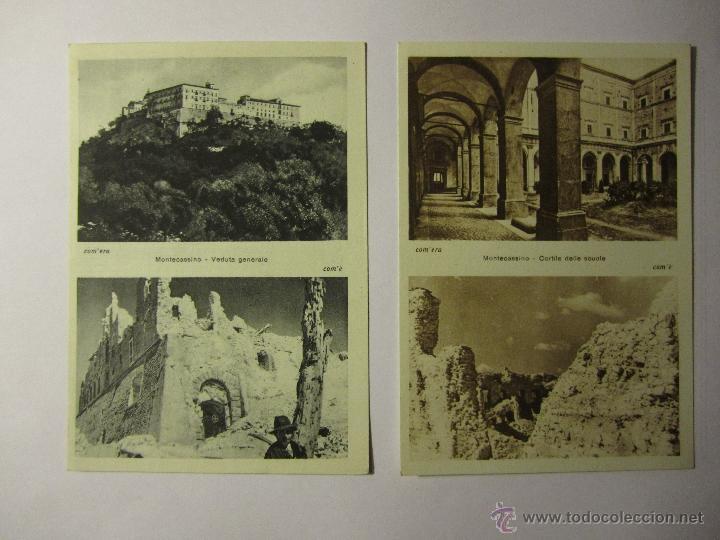 Postales: lote 10 postales abbazia di montecassino italia - Foto 3 - 40934874