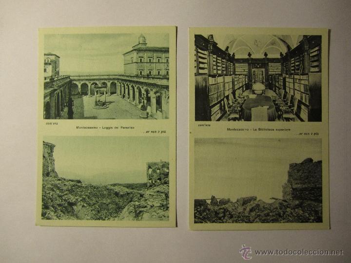 Postales: lote 10 postales abbazia di montecassino italia - Foto 4 - 40934874