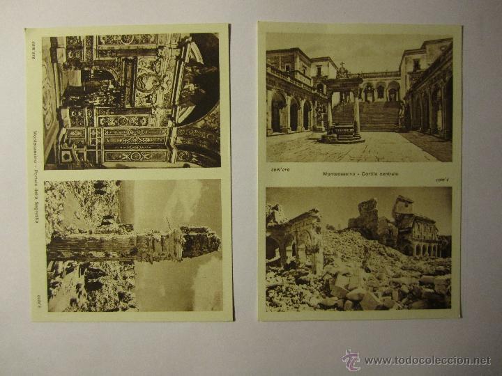 Postales: lote 10 postales abbazia di montecassino italia - Foto 5 - 40934874