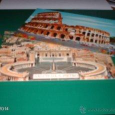 Postales: LOTE DE 2 POSTALES DE ROMA. AÑOS 70. CIUDAD DEL VATICANO Y EL COLISEO. Lote 40974088