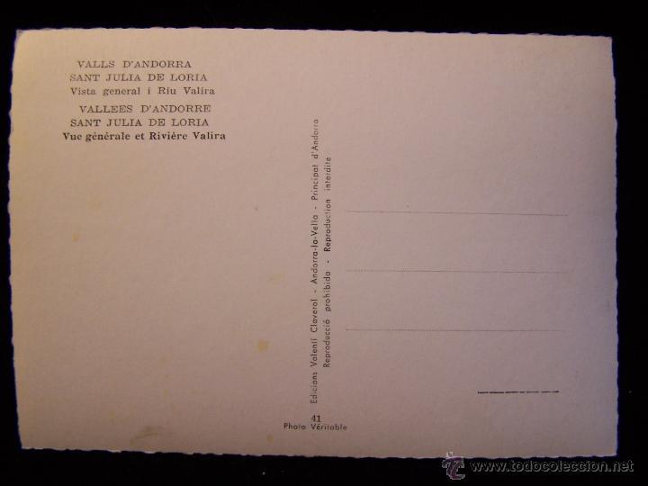 Postales: Postal fotográfica sin circular Fot y Ed Valentí Claverol Andorra la Vella Serie 41 - Foto 2 - 41323360