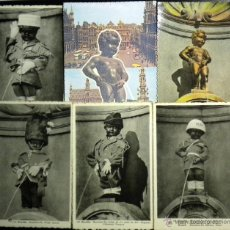 Postales: LOTE 6 POSTALES MANNEKEN PIS BRUSELAS BRUXELLES BRUSSEL BRUSSELS BRÜSEL. Lote 41372439