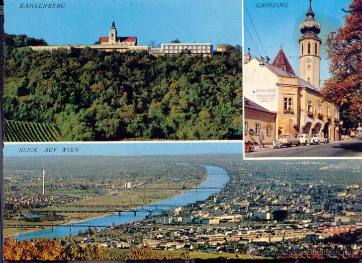 Kahlenberg Grizing Blick Auf Wien Farbkarten Buy Old Postcards
