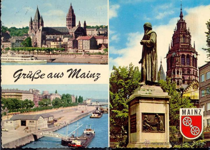 MAINZ. GRÜBE AUS MAINZ. (1969) POSTAL SI CIRCULADA. (Postales - Postales Extranjero - Europa)