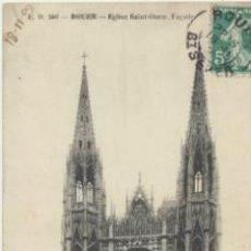 Postales: ROUEN.- EGLISE SAINT - OUEN. FRANQUEADO Y FECHADO EN 1909.. Lote 41603375