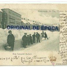 Postales: (PS-38997)POSTAL DE LA CHAUX DE FONDS-RUE LEOPOLD ROBERT. Lote 41618685