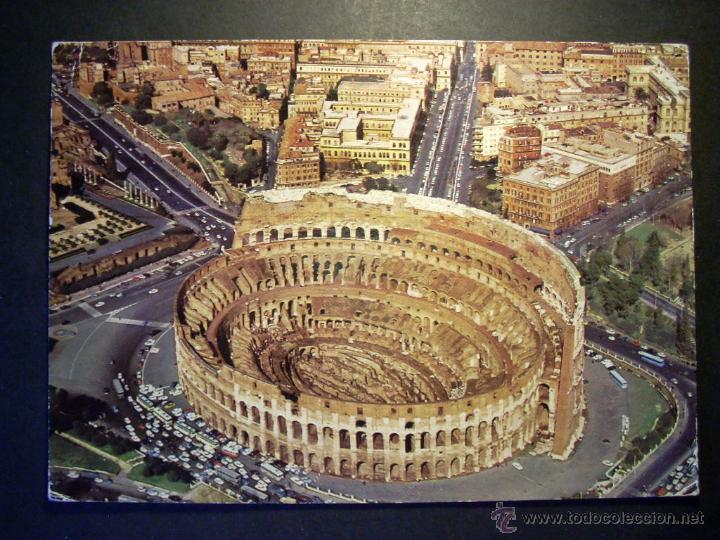7256 ITALIA ITALY LAZIO LACIO ROMA ROME IL COLOSSEO POSTCARD POSTAL AÑOS 60/70 - TENGO MAS POSTALES (Postales - Postales Extranjero - Europa)