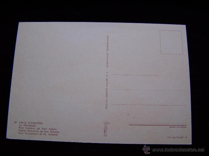 Postales: Postal sin circular Ed Postal Color S.A serie nº39 Puente Románico La massana Valls d´andorra - Foto 2 - 41694165