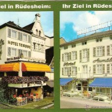 Postais: RÜDESHEIM AM RHEIN, HESSE (ALEMANIA), HOTELES - DORSO INFORMATIVO. Lote 41723701
